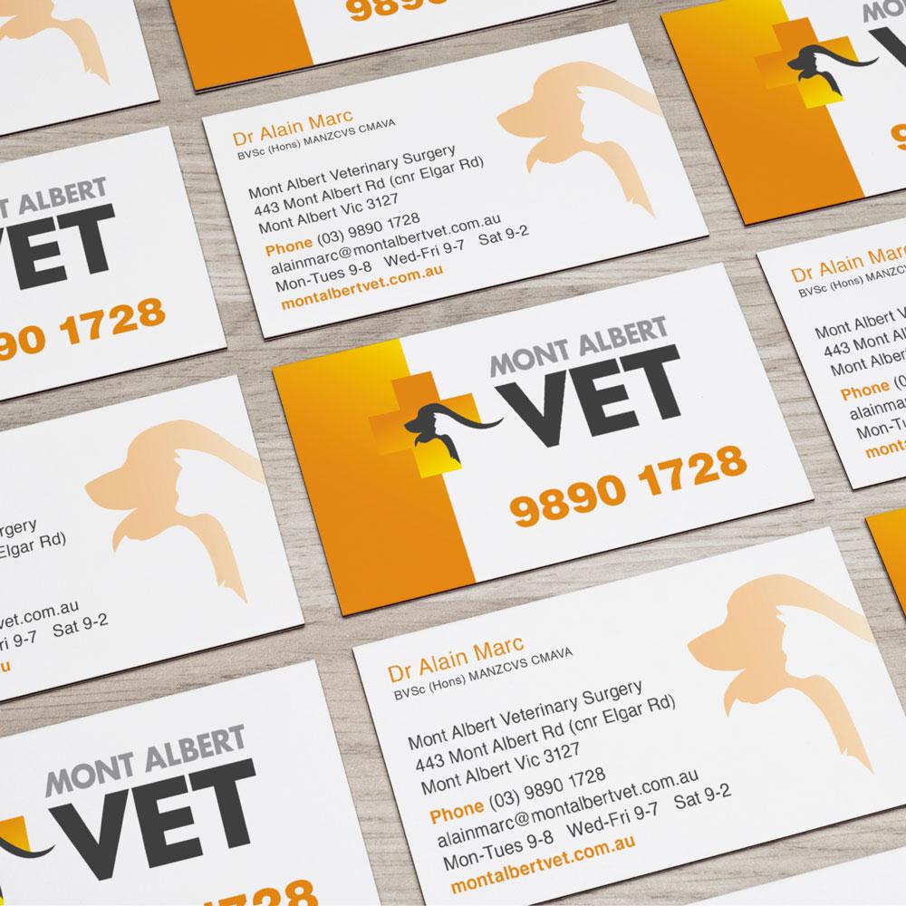 Mont Albert Vet Business Cards