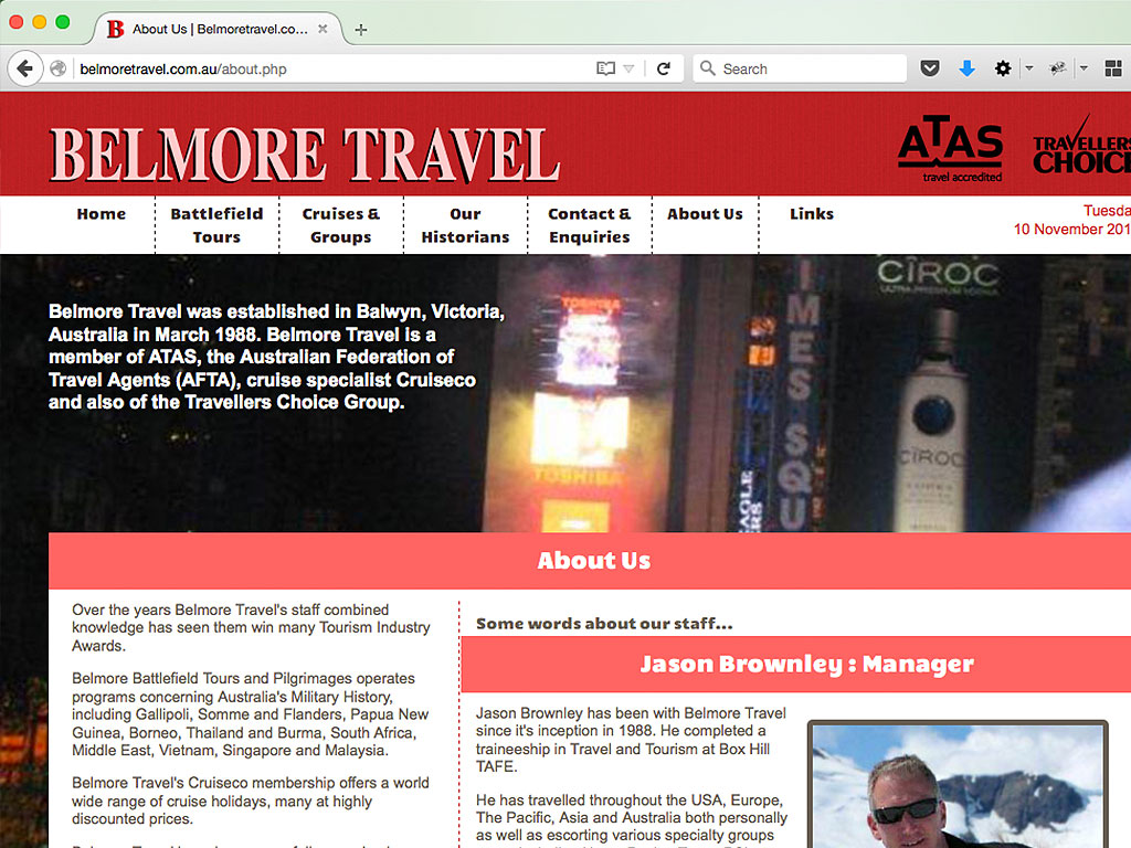 Belmore Travel Online Presence - The Wizarts
