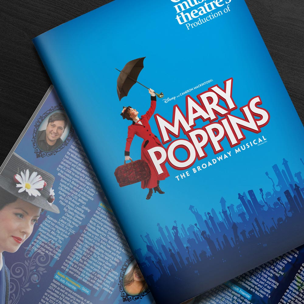 mary poppins theatre program the wizarts