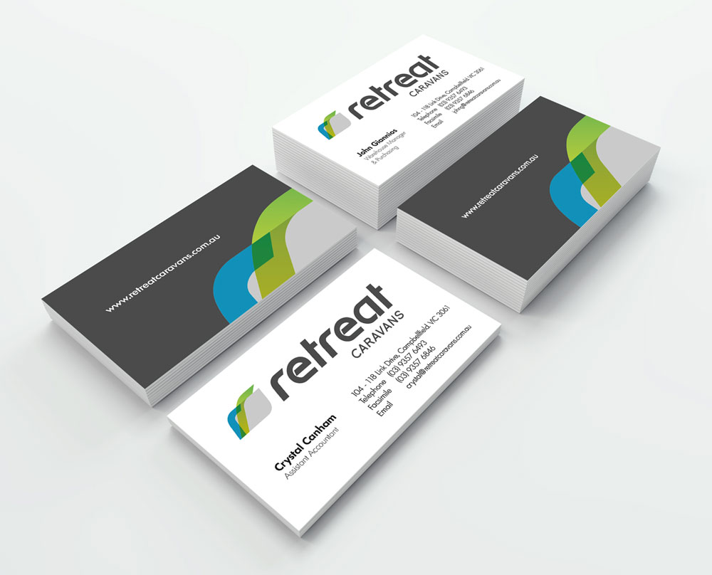 Retreat Caravans Business Card