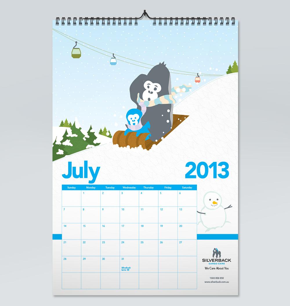 Silverback Wall Calendar The Wizarts