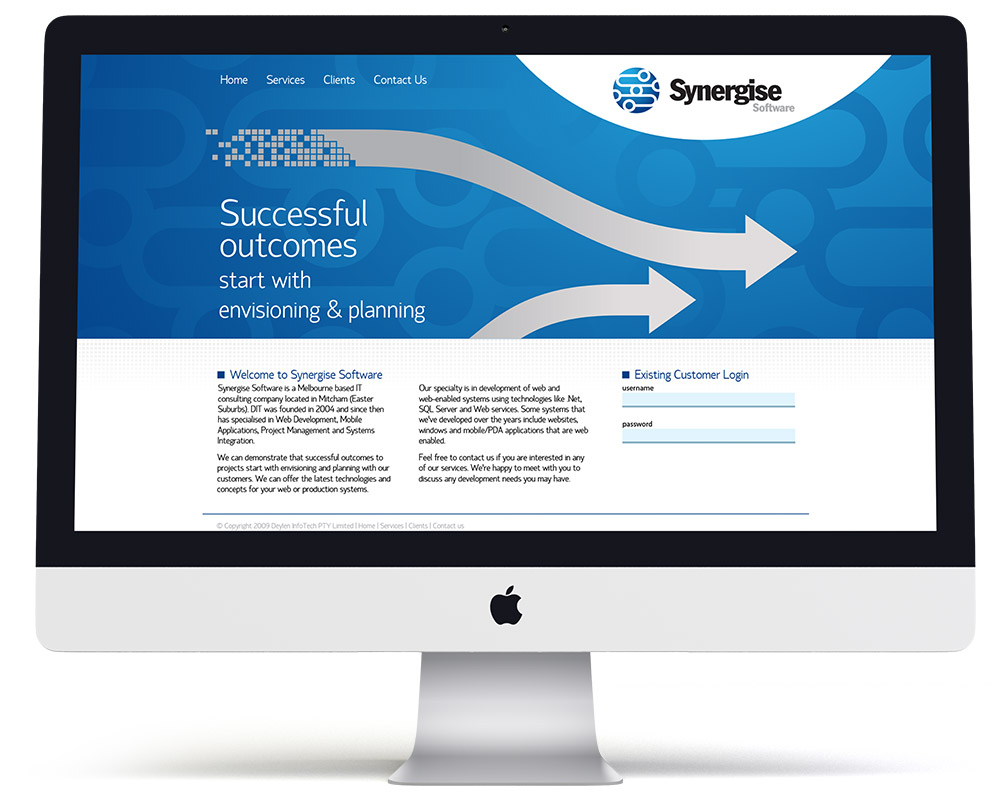 Synergise Software Web Design