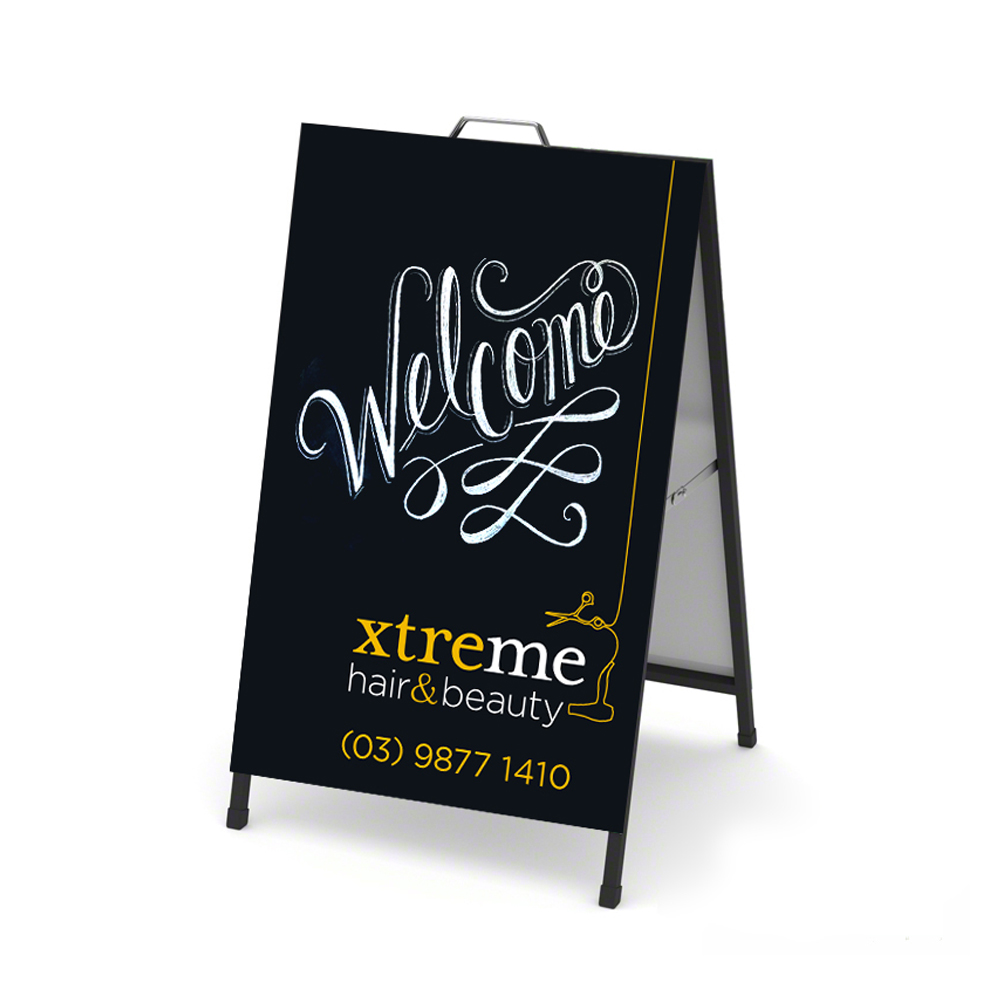 xtreme hair and beauty aframe board