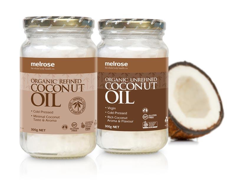 Melrose Coconut Oil labels