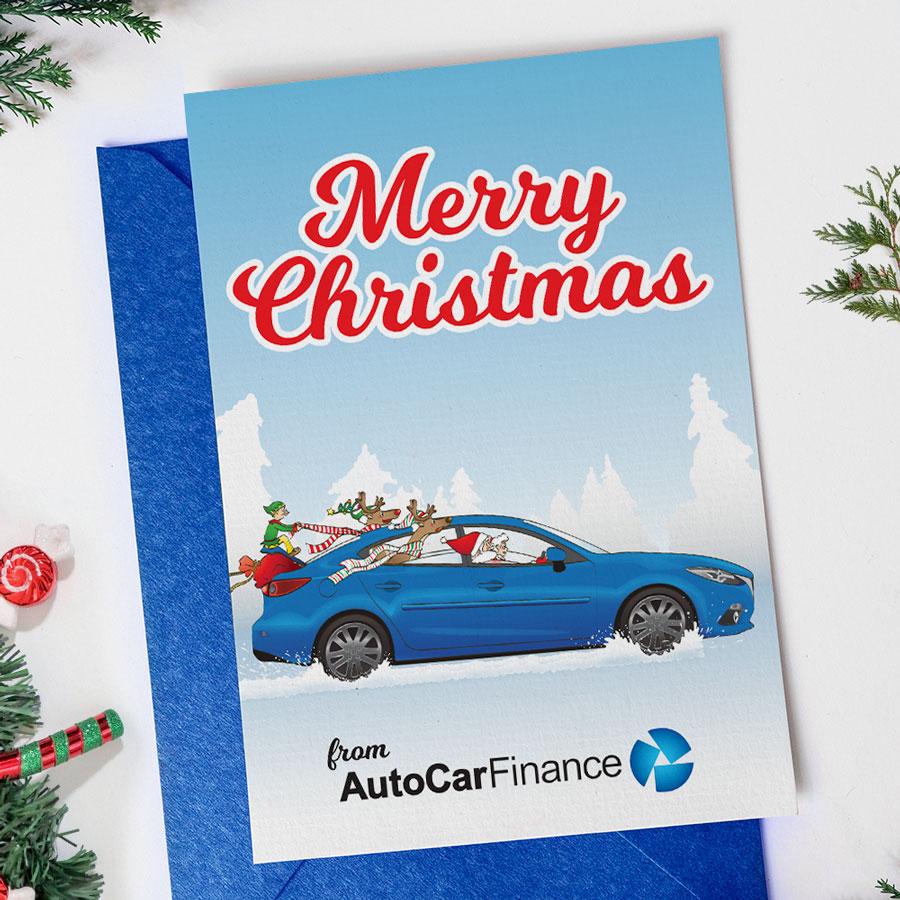 Auto Car Finance Christmas Card