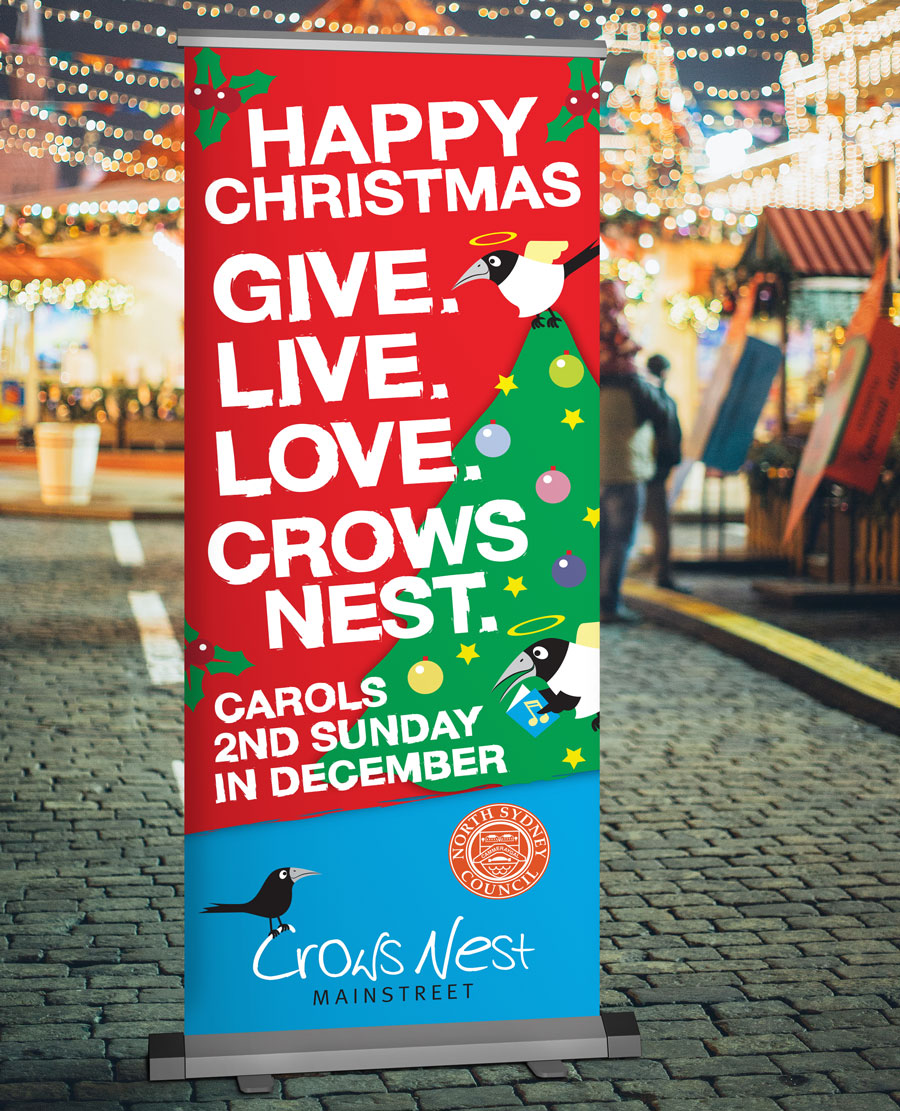 Crows Nest Christmas Banner