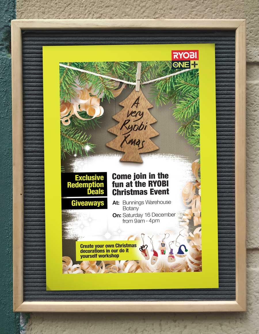 Christmas Event Poster RYOBI