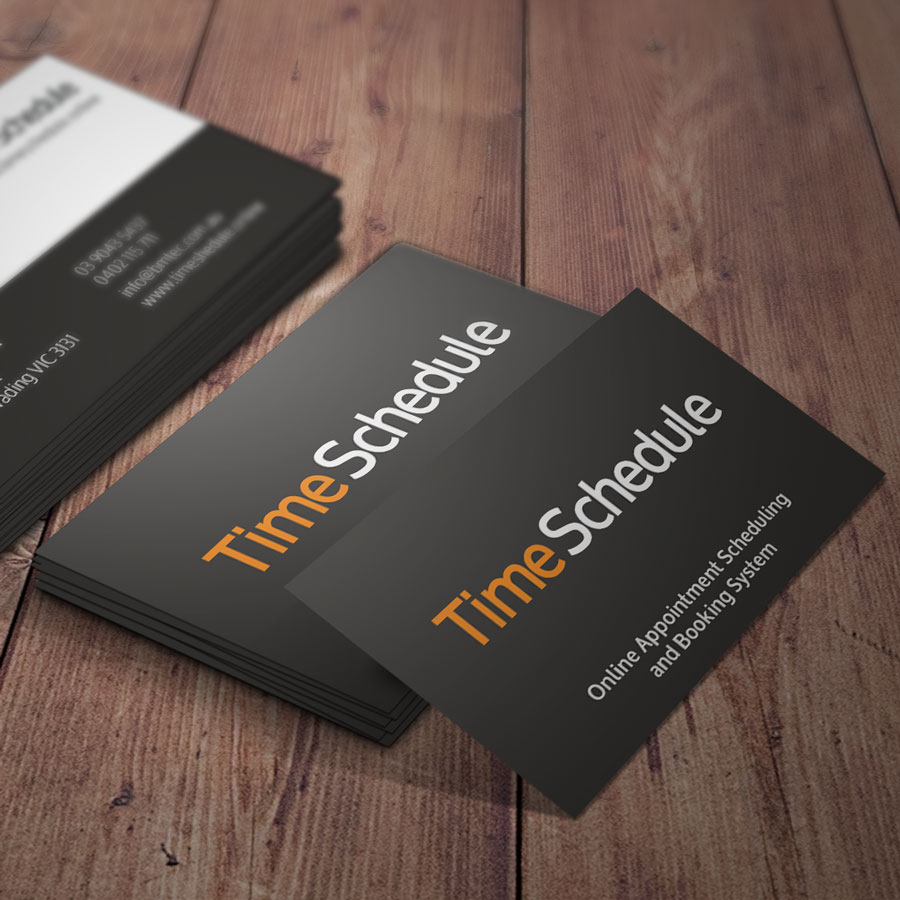 Time Schedule Business Cards